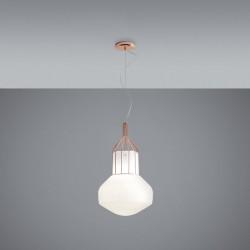 Pendant Lamp with metalcage - Aèrostat