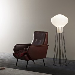Floor Lamp with cage Aérostat