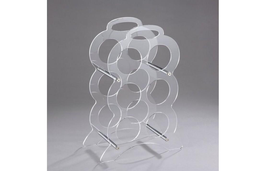 Bottles rack in transparent metacrylate