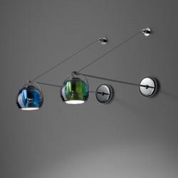 Wall lamp glass and metal - Beluga colour