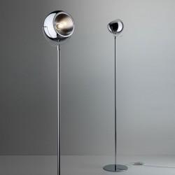 Floor Light in chromed metal - Beluga steel