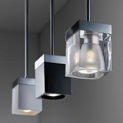 Suspension Lamp in Crystal - Cubetto