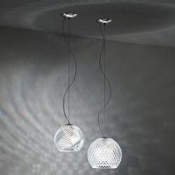 Diamond, lampada a sospensione in cristallo