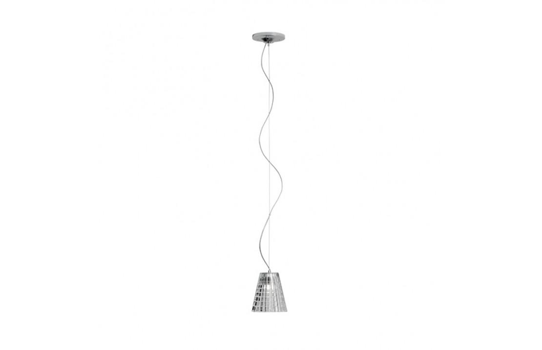 Flow lampada a sospensione vetro e metallo