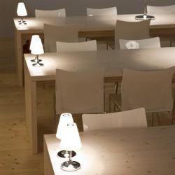 Flow lampada da tavolo vetro e metallo