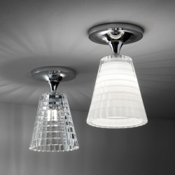 Flow ceiling lamp glass and metal