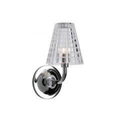 Flow crystal and metal wall lamp