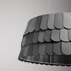 Roofer cylindrical suspension lamp