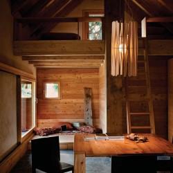 Lampada a sospensione in legno - Stick