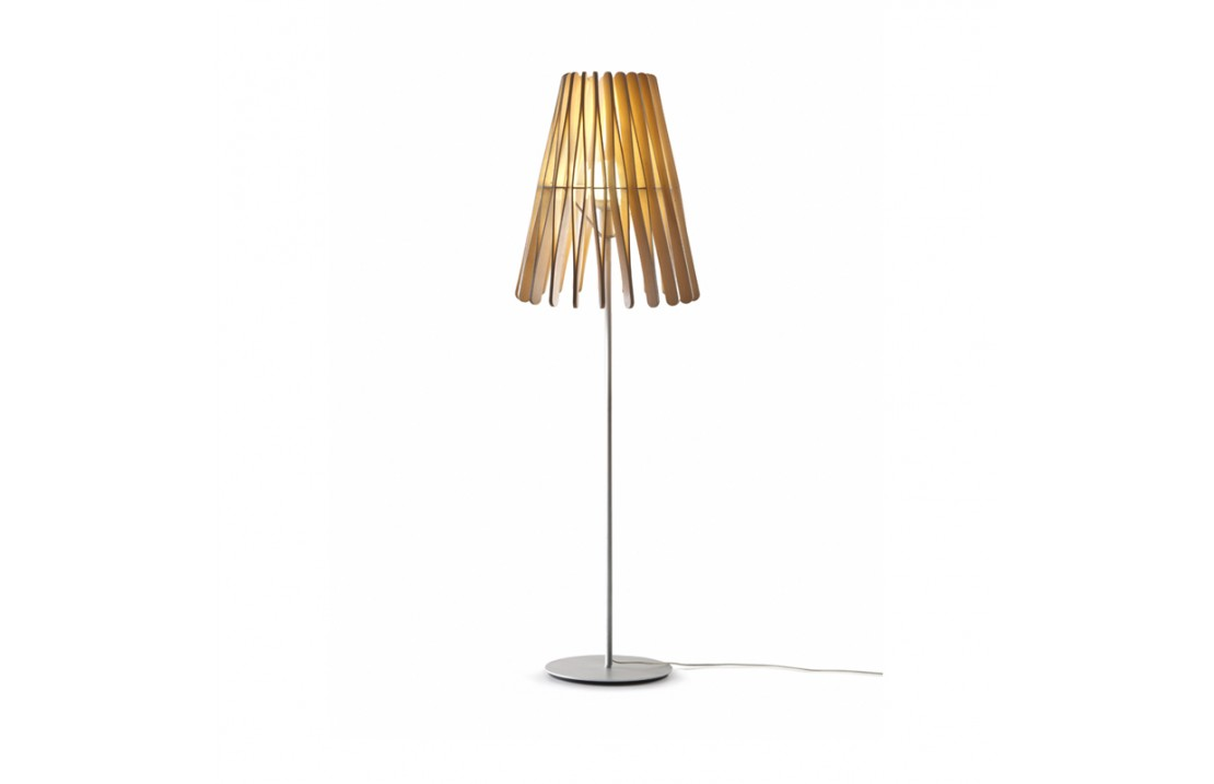 Stick, floor lamp in wood and metal