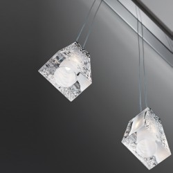 Suspension crystal lamp with 5 Spots - Vicky
