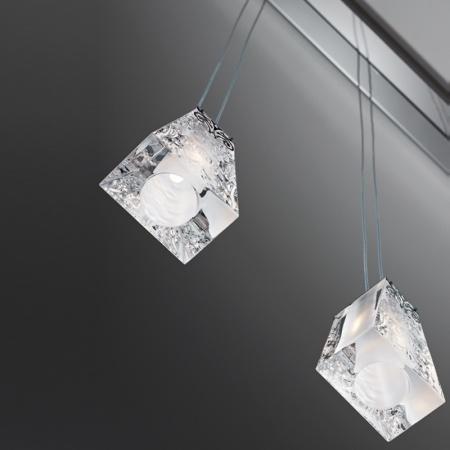 Vicky lampada a sospensione 5 luci in cristallo