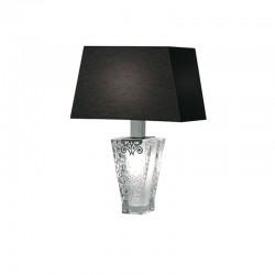 Lampada da tavolo in cristallo e tessuto - Vicky