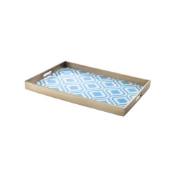 Rectangular tray Blue