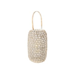 Lantern in rattan with LED...