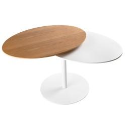 Duo, tavolino in metallo...