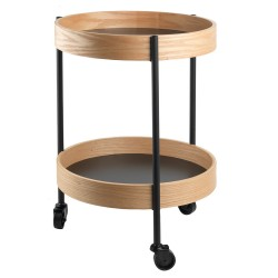 Aron, wooden low serving cart