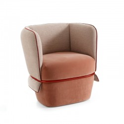 Chemise armchair in fabric...