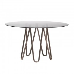 Round glass top table - Meduse