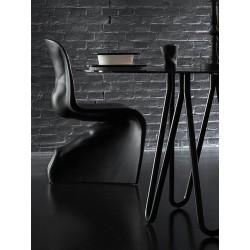 Tavolo tondo in metallo e vetro - Meduse