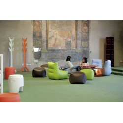 Padded armchair in eco-leather - Morfino