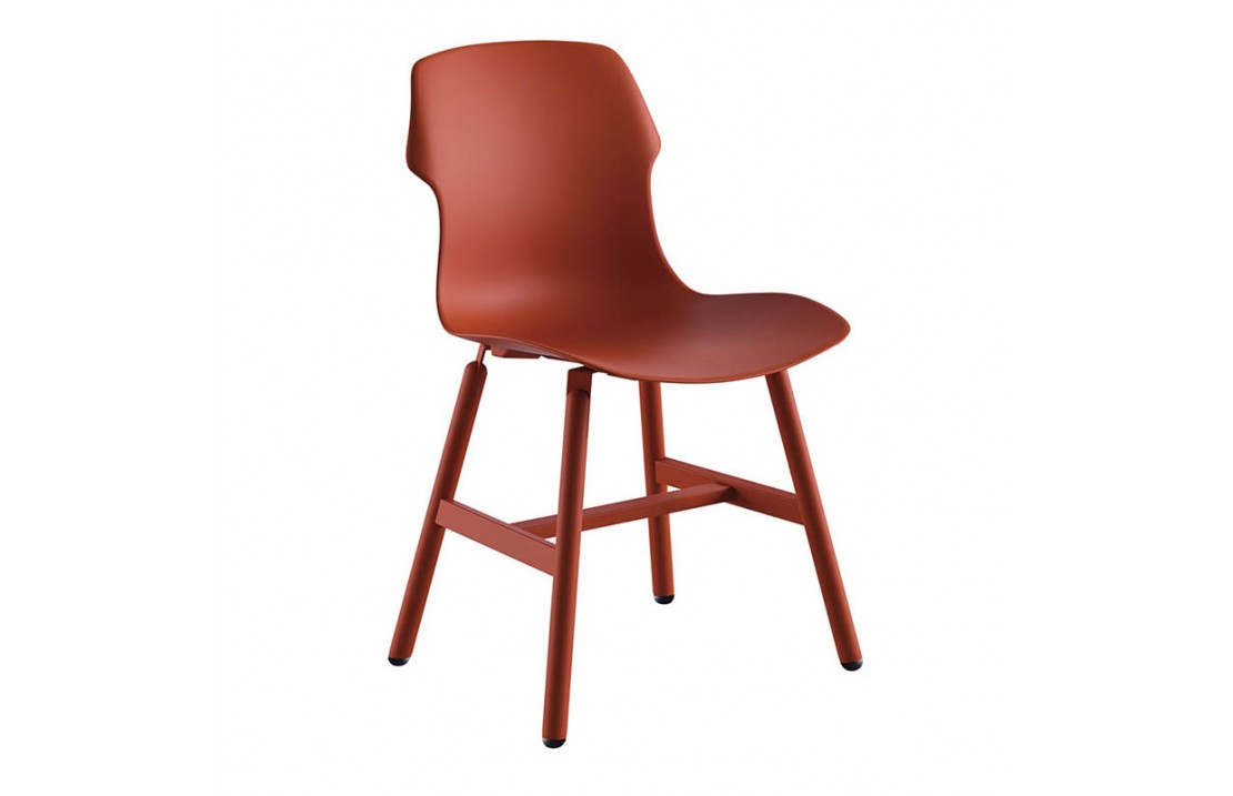 Stereo Metal chair in polypropylene
