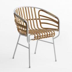 Raphia natural rattan armchair