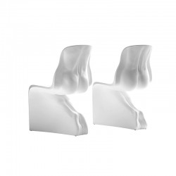 Set 2 chairs in polyethylene - Him & Her