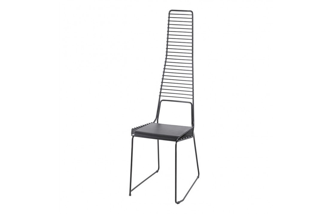 Alieno metal chair with high backrest
