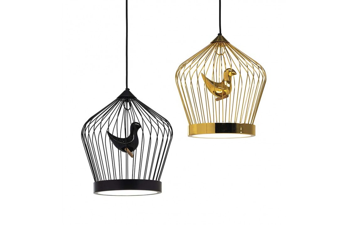 Suspended lamp in metal - Tweet 1