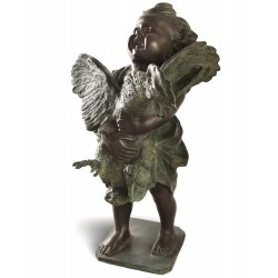Cherub with the cock bronze...