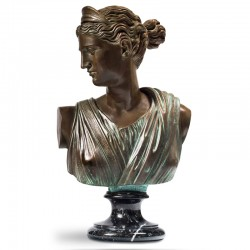 Bust of Diana bronze and...