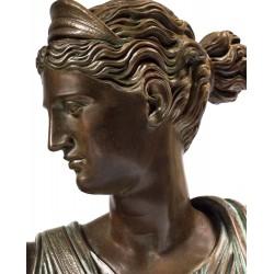 Scultura in bronzo e marmo - Busto Diana