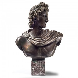 Bronze and marble statue -...