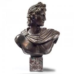 Statua in bronzo su marmo -...