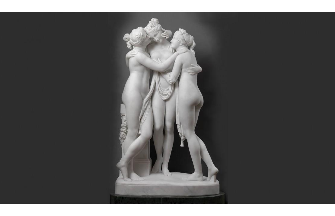 THE THREE GRACES, COPY OF THE ORIGINAL BY ANTONIO CANOVA.