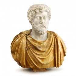 Bust of Marcus Aurelius...