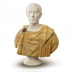 Scultura in marmo - Busto Giulio Cesare