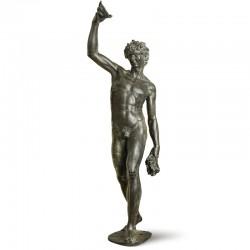 Bacchus bronze statue