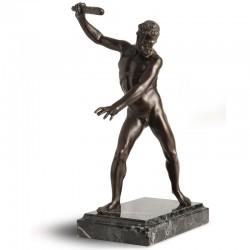 Statua in bronzo e marmo -...