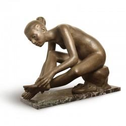 After Dancing bronze statue