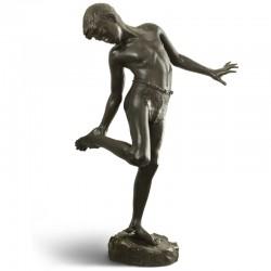 Boy with Crab bronze statue