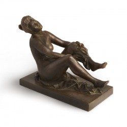 After a Bath bronze sculpture