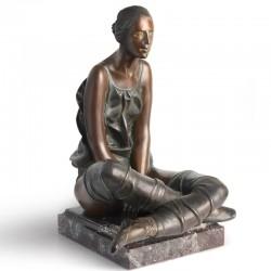 Sitting Ballerina bronze...