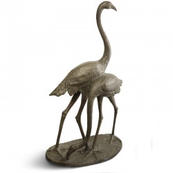Flamingoes bronze statue