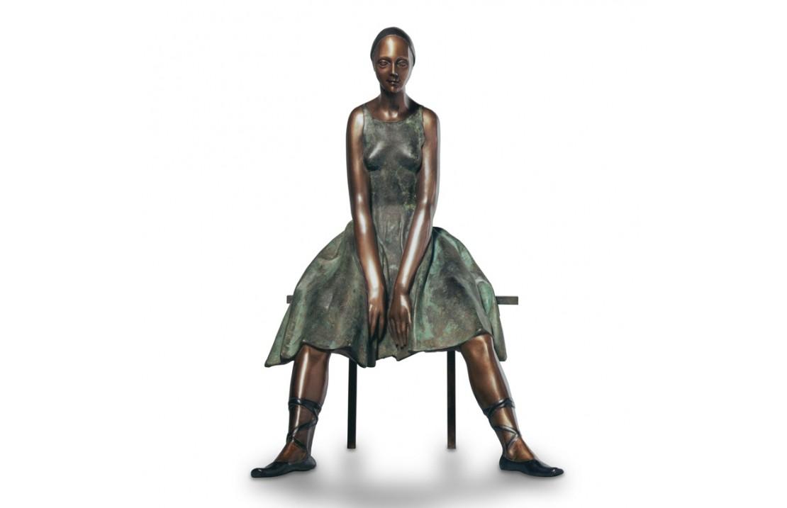 Scultura in bronzo - Ballerina Seduta