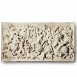 Marble Bas-relief of a Battle