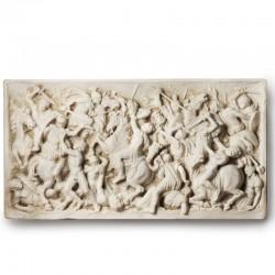 Scultura in marmo - Battaglia bassorilievo