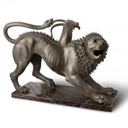 Scultura in bronzo Chimera...