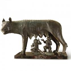 Roman Wolf bronze statue